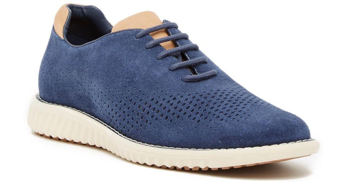 8c7ca966321 Steve Madden - Blue Vaelen Suede Oxford Sneaker for Men - Lyst