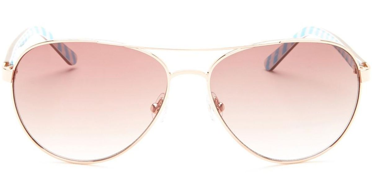 9c58c4acb Kate Spade 58mm Blossom Aviator Sunglasses in Pink - Lyst