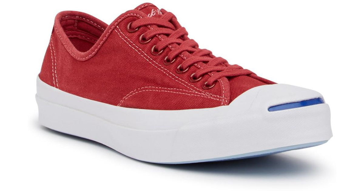 1fb465bda0790f Lyst - Converse Jack Purcell Signature Oxford Sneaker (unisex) in Red for  Men