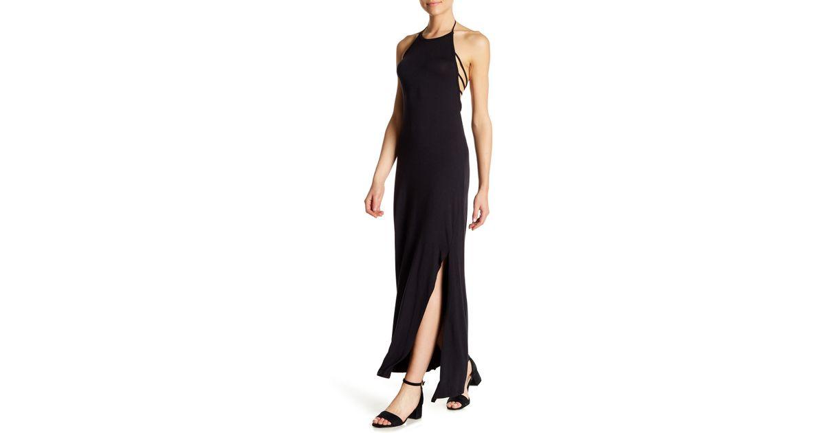 45341d86eef2 Lyst - Go Couture Strappy Apron Slip Midi Dress in Black