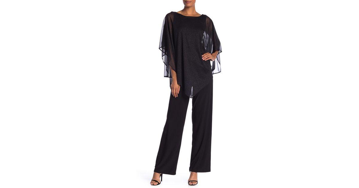 08cc26088b64 Marina Glitter Illusion Capelet Jumpsuit in Black - Save 43% - Lyst