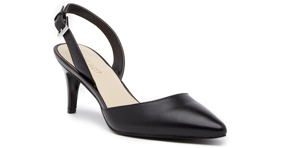88b890c91da Lyst - Nine West Epiphany Slingback Leather Pump - Wide Width Available in  Black
