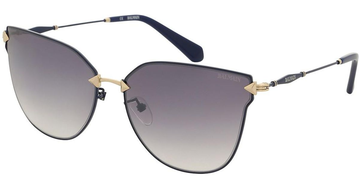 e04ba26b93 Balmain Women s Cat Eye Metal Frame Sunglasses in Metallic - Lyst