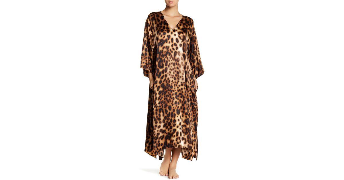 12dc4a955ee5 Lyst - Natori Leopard Print Night Gown