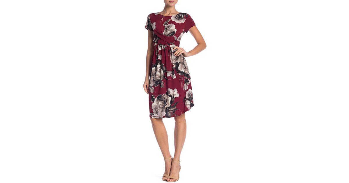 b471a0a5298a Lyst - West Kei Twist Front Floral Dress