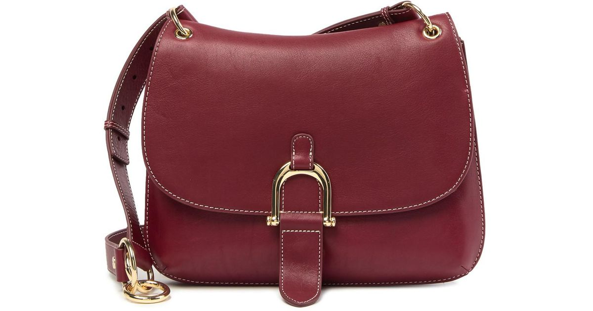 b654a8b55960a9 Lyst - Sam Edelman Delilah Leather Saddle Crossbody Bag in Red