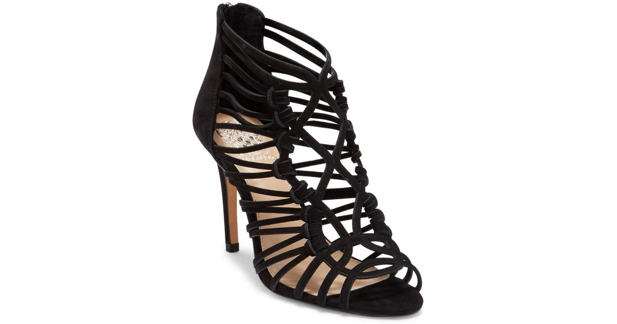 9fe76226eb5e Lyst - Vince Camuto Joshalan Strappy Suede Sandal in Black