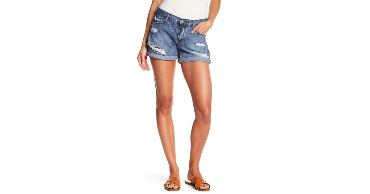 fd362a5bb7 Articles of Society Behy Ripped Shorts in Blue - Lyst