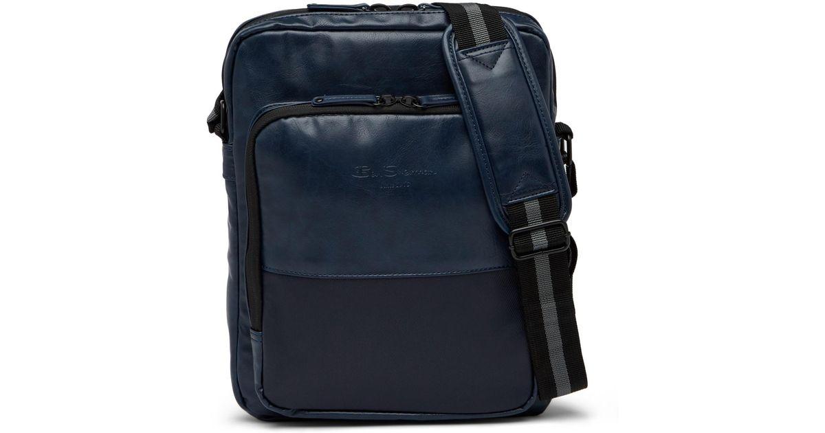 3fbe9035b16e Lyst - Ben Sherman Keats Grove Single Compartment Tablet Crossbody Bag in  Blue for Men