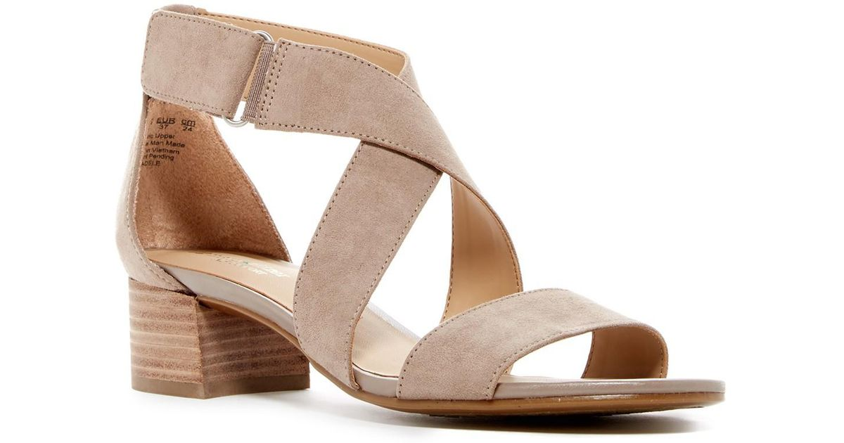 61880d1f6d0 Lyst - Naturalizer Adele Block Heel Sandal - Wide Width Available in Brown