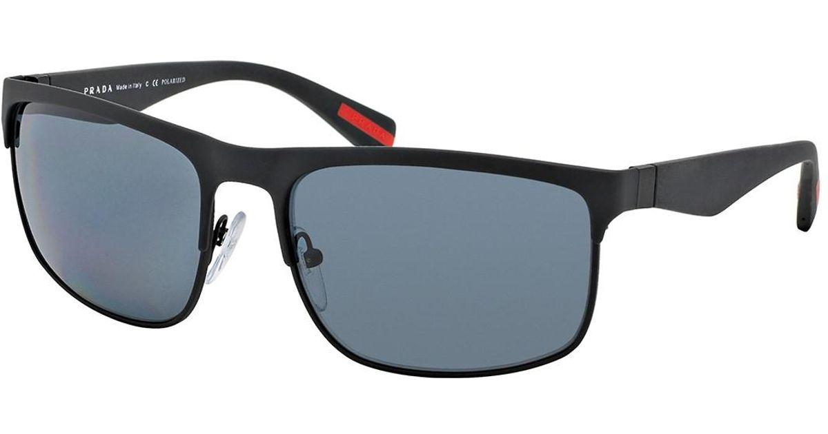 36e4107e7d43 Lyst - Prada Men s Rubbermax Wrap Sunglasses for Men