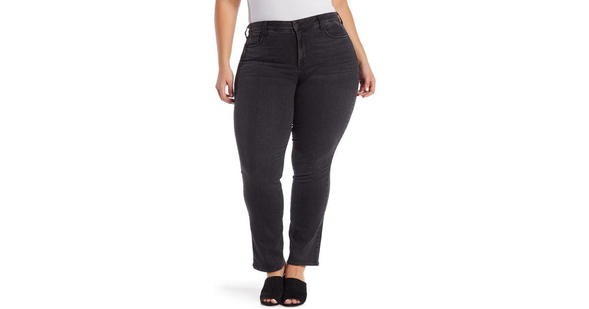 4a7d6f2e5da Lyst - Nydj Marilyn Straight Leg Jeans (plus Size)