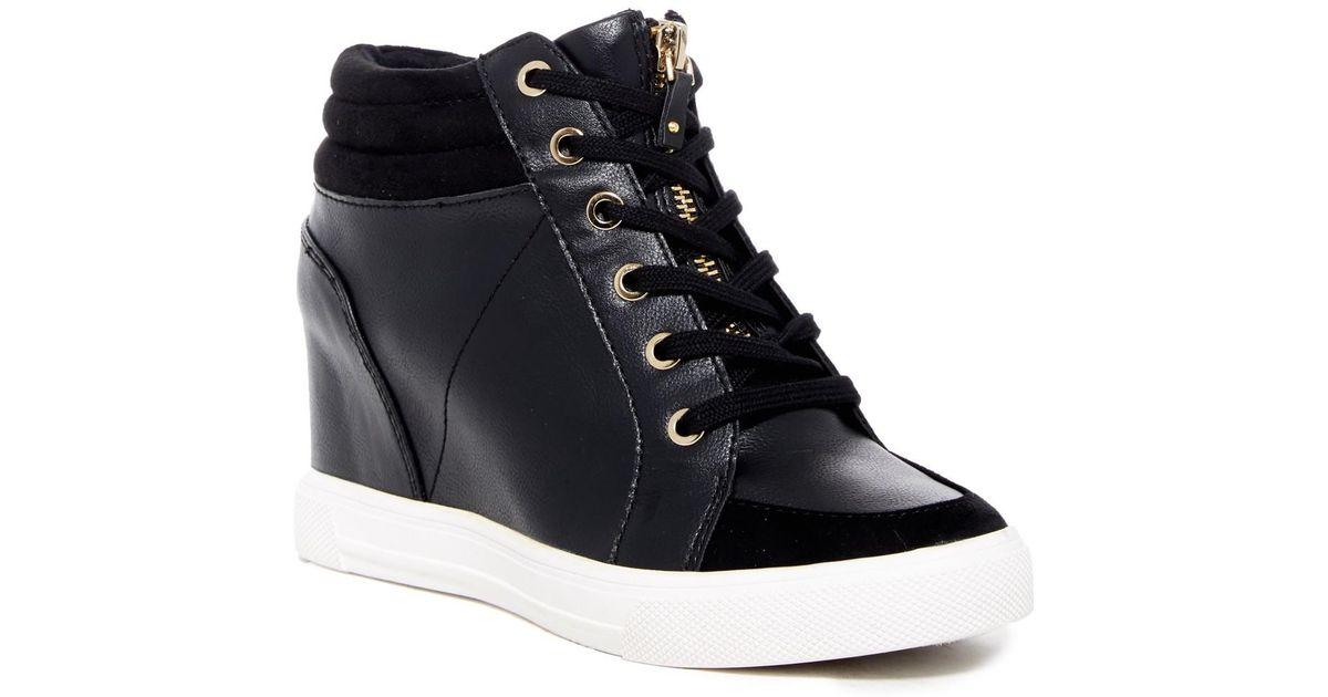 355fceaf7f4 Lyst - ALDO Etirevia Wedge Sneaker in Black