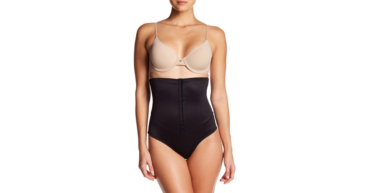 cabab0d4bd535 Lyst - Miraclesuit Waist Cinching High Waist Corset in Black