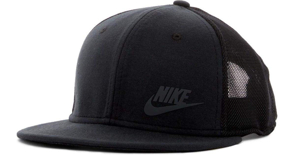 Lyst - Nike Tech Pack True Snapback Cap in Black for Men c75a862ba8c