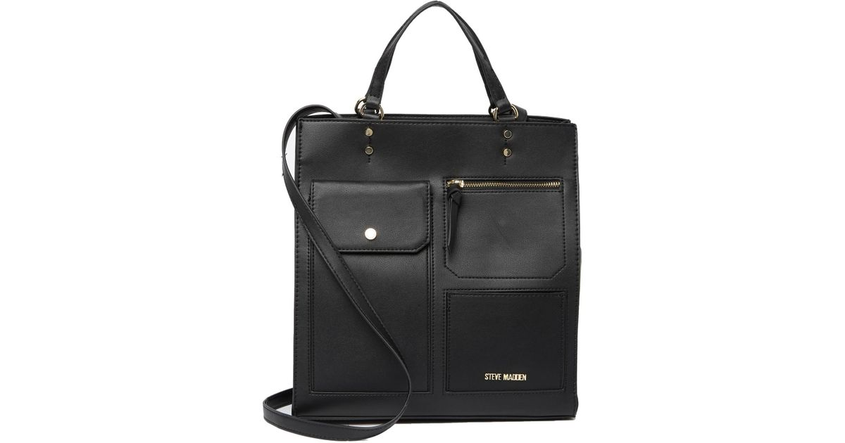 2bb0468a5c Steve Madden Maisy Tote Bag in Black - Lyst