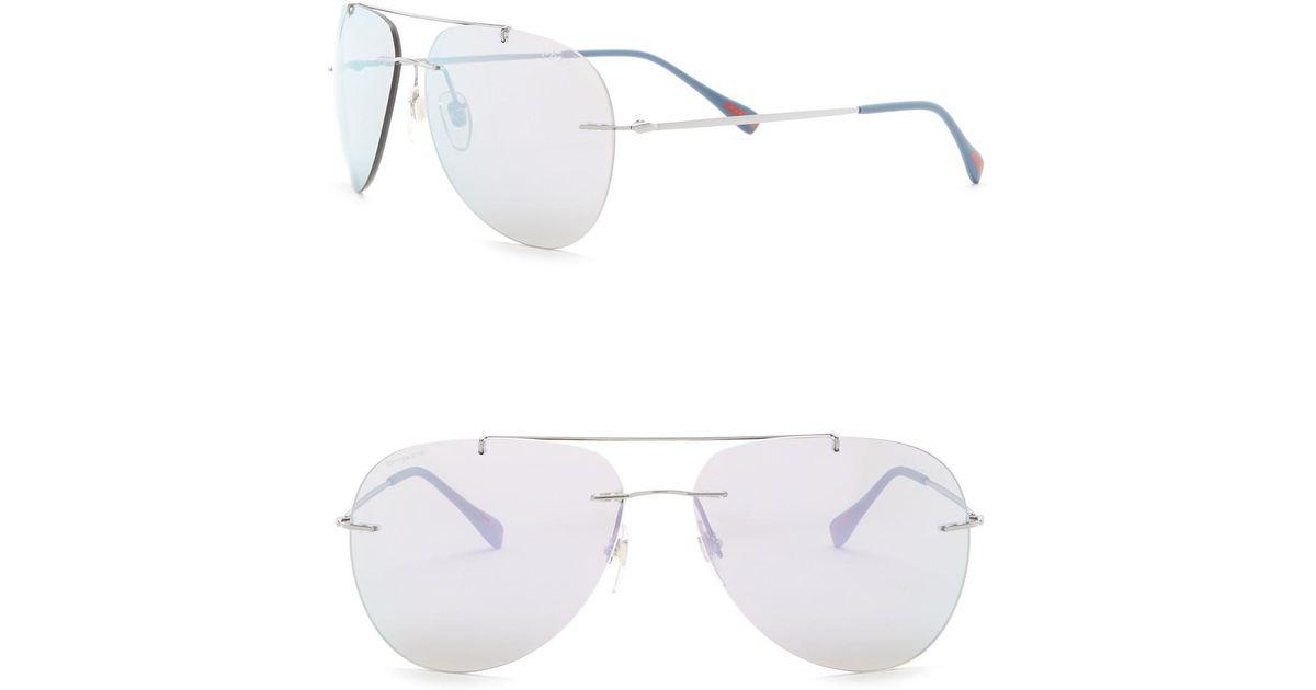 dc519684d696 Lyst - Prada Pilot 50mm Aviator Sunglasses for Men