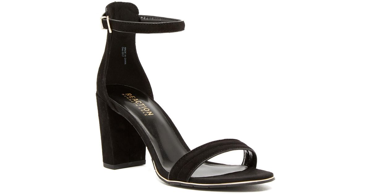 Kenneth Cole Reaction Lolita Embroidered Block Heel Sandal ET86W