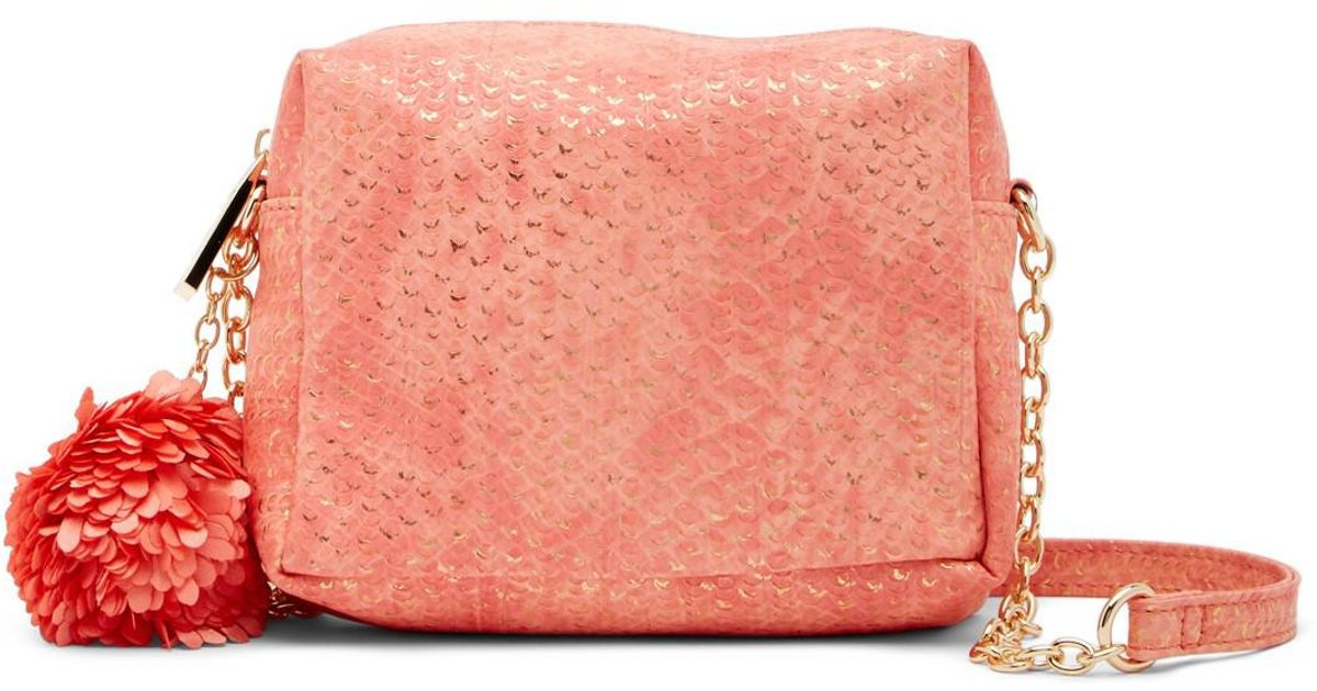 275cef3a8e5c Deux Lux Cotton Candy Embossed Mini Crossbody Bag in Pink - Lyst