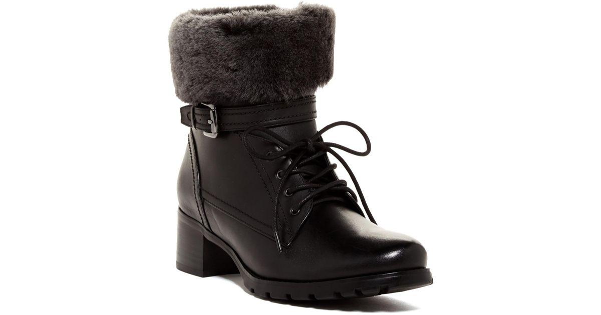 1a0e152ca32 Lyst - Blondo Fiory Genuine Shearling Sheep Cuff Waterproof Boot in Black