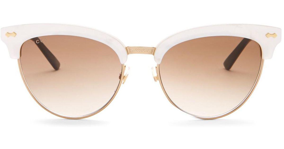 5bfa975610e Lyst - Gucci Women s 55mm Clubmaster Sunglasses