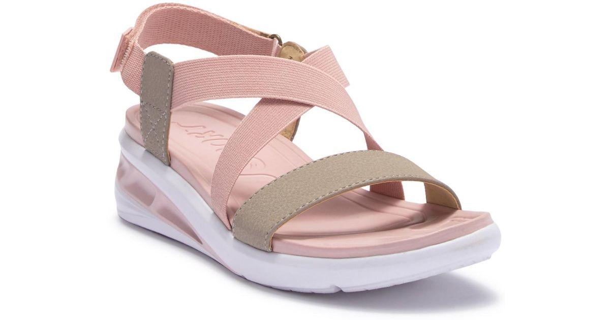 d4b814501f4 Lyst - Jambu J-sport Sunny Wedge Sandal in Pink