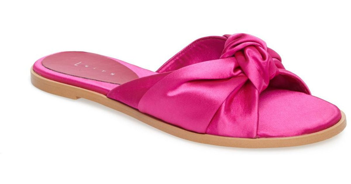 38fe0f1ccca6e3 Lyst - Leith Nevie Slide in Pink