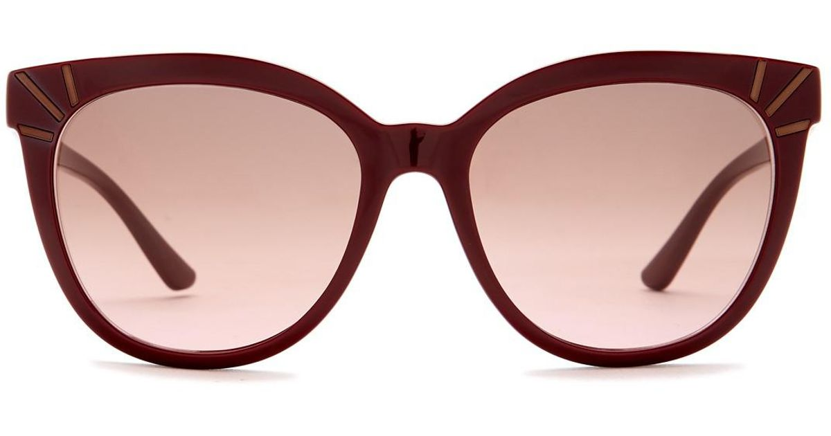 3e84f00718a Lyst - Tory Burch Women s Cat Eye Acetate Frame Sunglasses