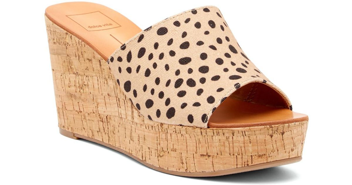 598049348f1 Lyst - Dolce Vita Barkley Cork Wedge Sandal in Brown