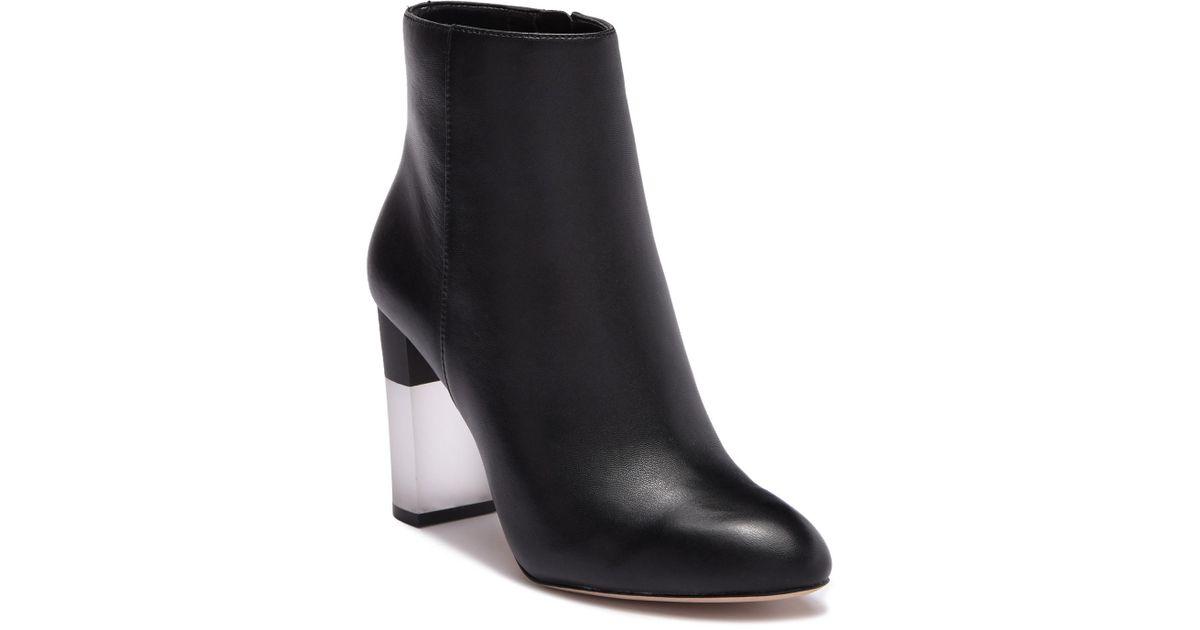 ecd97b40eab76c Lyst - Enzo Angiolini Hadie Leather Block Heel Boot in Black