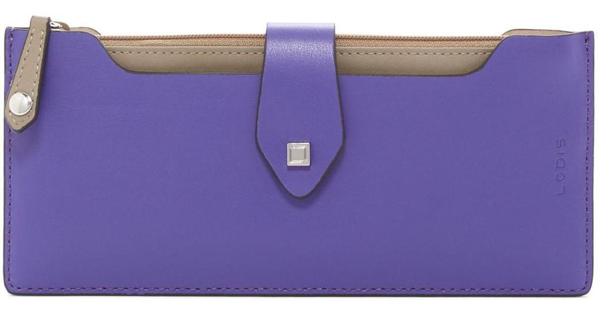 fa58e08fa2f6 Lodis Blair Multi-pouch Leather Wallet in Purple - Lyst