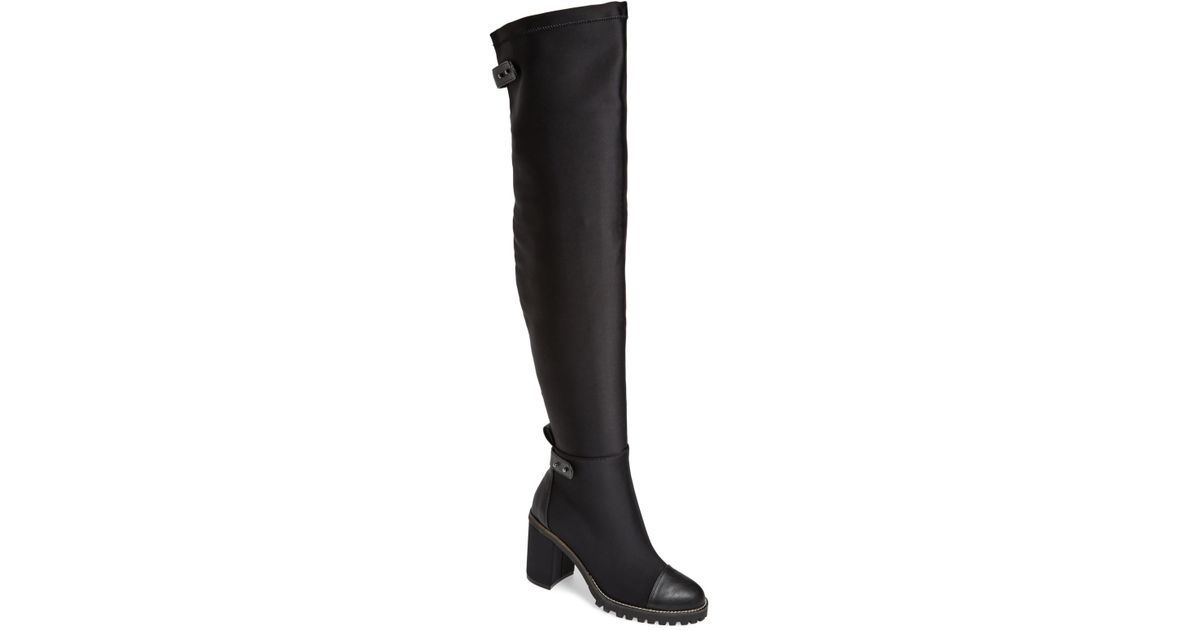 30a442480ca Lyst - Chinese Laundry Jerry Over The Knee Boot in Black