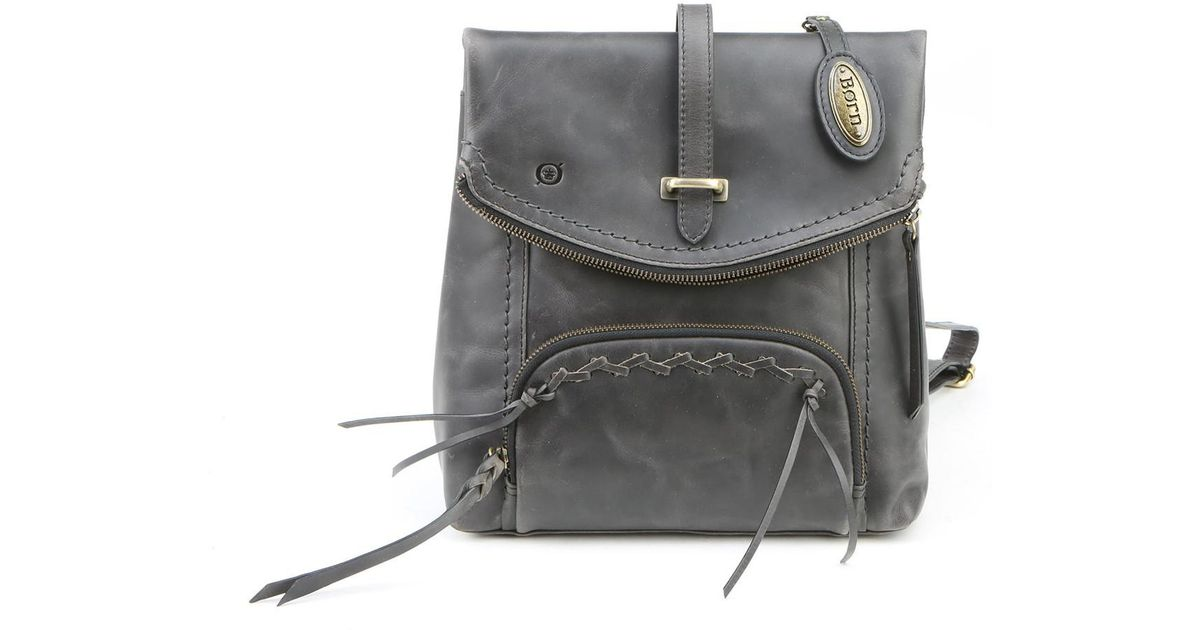 fa74987cba9 Lyst - Born Arched Distressed Leather Backpack in Black