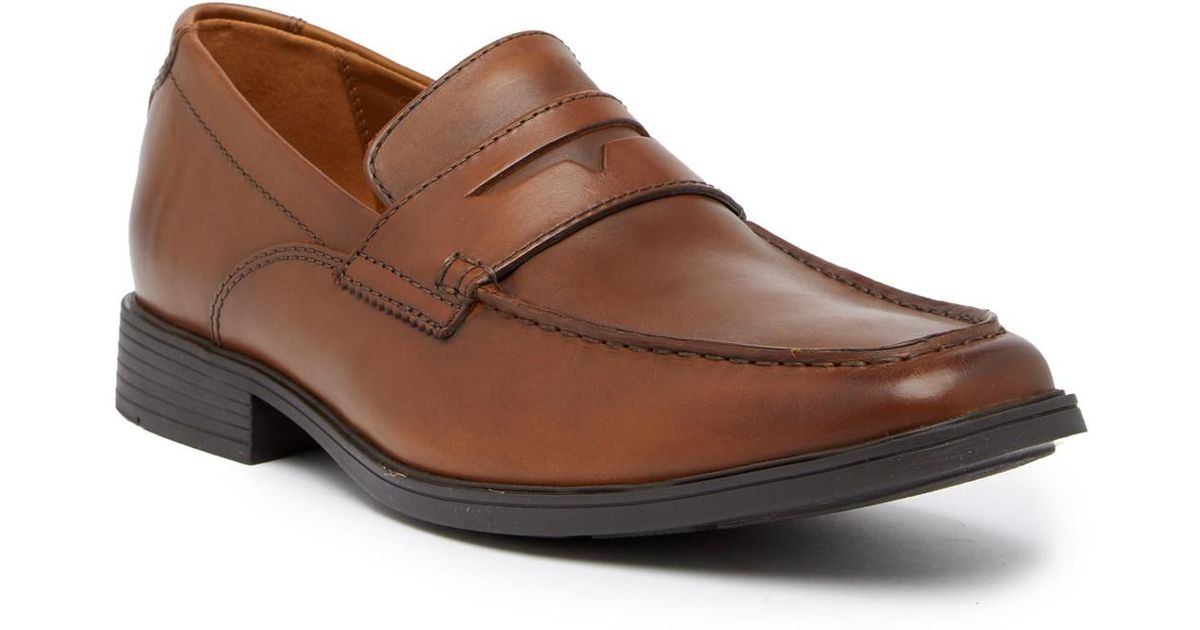 d8adfb00804 Lyst - Clarks Tilden Way Leather Penny Loafer - Wide Width Available in  Brown for Men