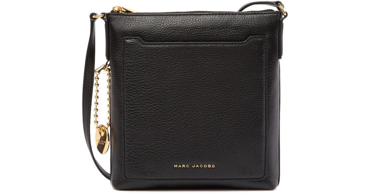 a65f86cf5 Marc Jacobs Tourist Ns Leather Crossbody Bag in Black - Lyst
