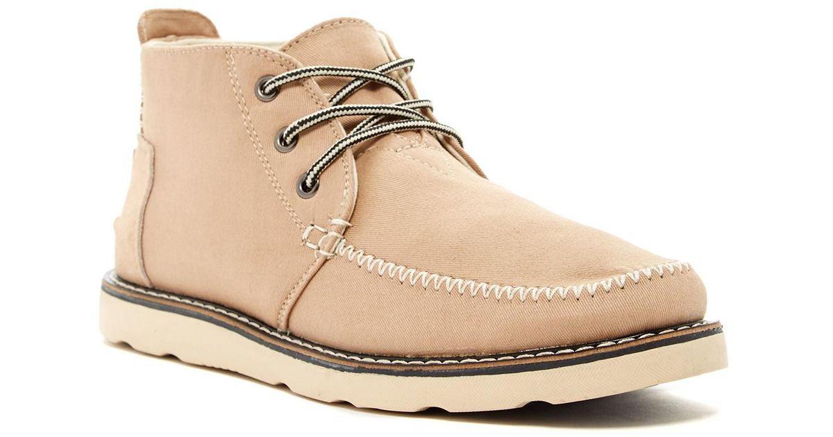 17b9e56ea83 TOMS - Natural Classic Chukka Boot for Men - Lyst