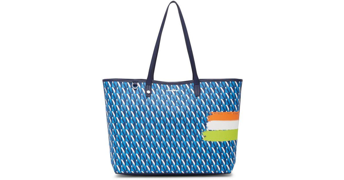 fb8f792fae Lyst - Sam Edelman Isalyn Signature Tote Bag in Blue