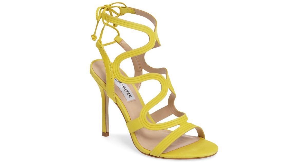 ef88cda283e Lyst - Steve Madden  ava  Sandal (women) in Yellow
