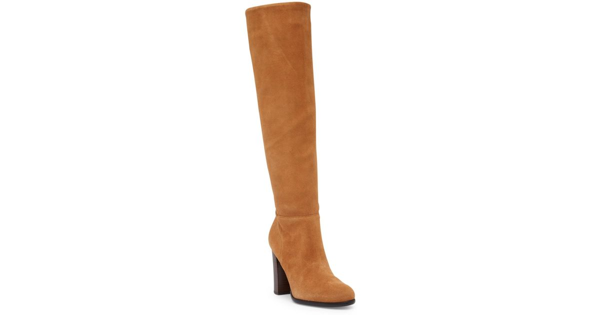 5399bf54cba54a Lyst - Sam Edelman Victoria Tall Suede Boot in Brown