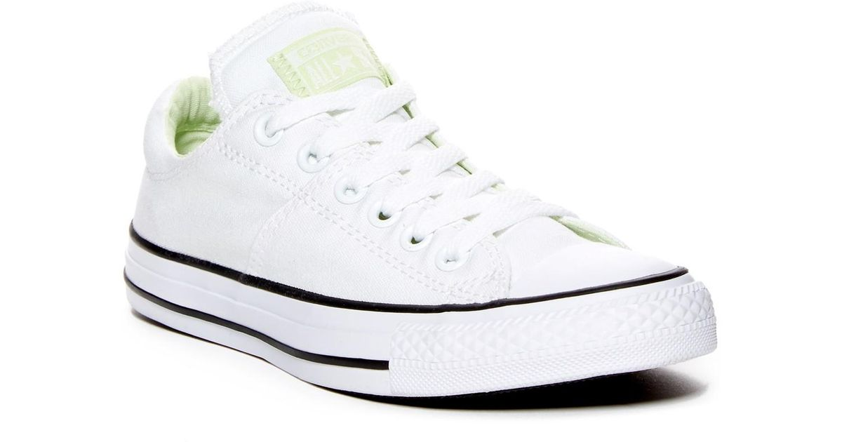 56fdad816eb Lyst - Converse Chuck Taylor(r) All Star(r) Madison Low Top Sneaker (women) in  White