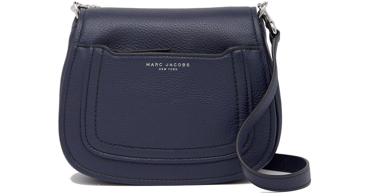 official store size 40 luxuriant in design Marc Jacobs - Blue Empire City Mini Messenger Leather Crossbody Bag - Lyst