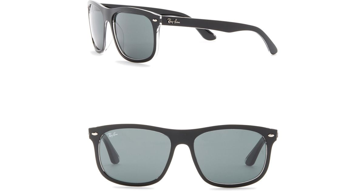 24830727fc8de Lyst - Ray-Ban 59mm Rectangle Sunglasses in Black for Men