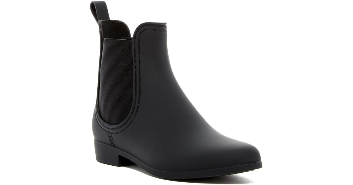 394817376e1f Lyst - Jeffrey Campbell Forecast Chelsea Waterproof Rain Boot in Black