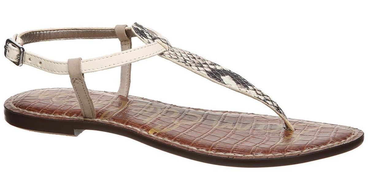 59d45d39fe0830 Lyst - Sam Edelman Gigi Snake Embossed Thong Sandal