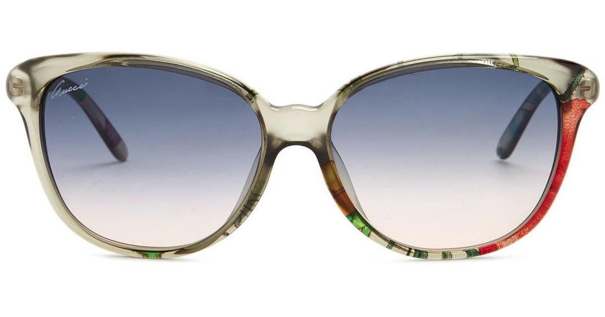 e9b441f98f Gucci 57mm Cat Eye Sunglasses - Lyst