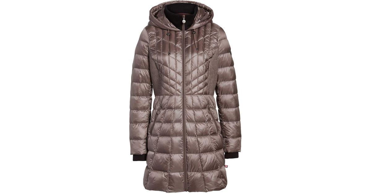 7e2ecfc7475 Lyst - Bernardo Down   Primaloft(r) Coat (regular   Petite) in Brown