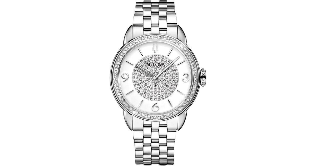 Bulova Women s Winslow Diamond Bracelet Watch 0 46 Ctw in