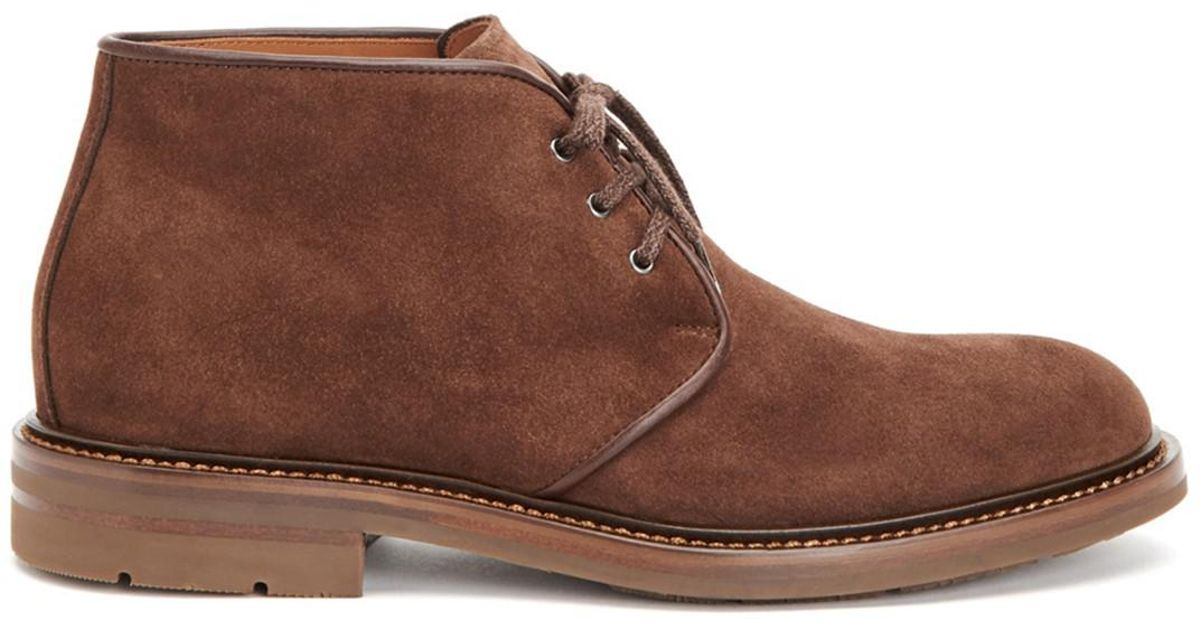 804a83dde6a Lyst - Aquatalia Raphael Waterproof Suede Chukka Boot in Brown for Men