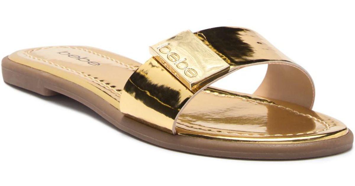 bebe Lania Patent Slide Sandal YChBOQ4sKX
