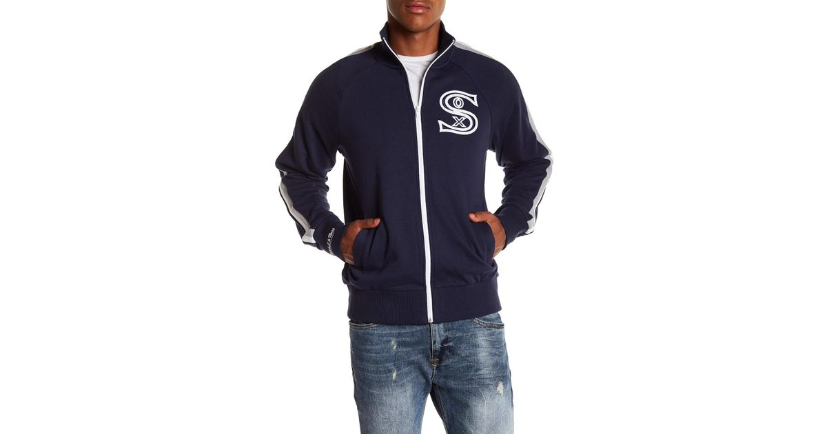 half off 42323 ea2d2 Mitchell   Ness Mlb Division Champs Chicago White Sox French Terry Jacket  in Blue for Men - Lyst